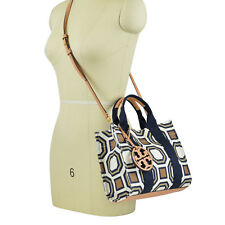 NWT Tory Burch Octagon Print Crossbody Mini Tote in New Ivory