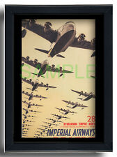 More details for imperial airways repro poster empire class flying boats 1937 albert brenet