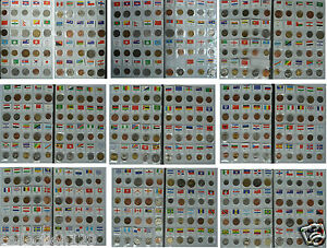 180 coins of 180 countries (areas), with an album