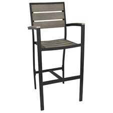 New Havana Driftwood Gray Collection Bar Stool with Arms