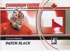 11-12 ITG Jonathan Bernier /6 PATCH Canada VS The World Canadian Cloth 2011