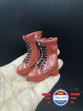 1/6 scale RED Zipper Short boots HOLLOW for 12'' Female Figure Body Doll