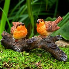 Mr & Mrs Robin Bird Garden Ornament Animal Statue