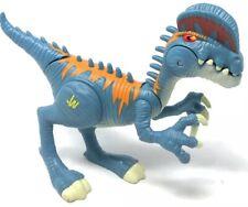 "Jurassic World JW 7"" Dilophosaurus Electronic Light & Sounds Blue Dinosaur Roars"