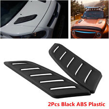 Pair Universal Car Decorative Air Flow Intake Hood Scoop Vent Bonnet Base Cover