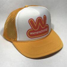 Wienerschnitzel Hot Dog Trucker Hat Vintage 80's Snapback Employee Cap Yellow