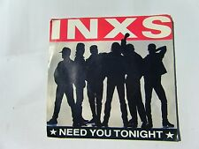 INXS NEED YOU TONIGHT B/W I'M COMING (HOME) 1987 ATLANTIC 45 RPM PICTURE SLEEVE