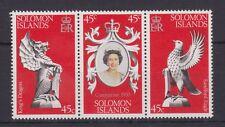 QEII 25th aniversario coronación 1978 estampillada sin montar o nunca montada conjunto de sello Islas Salomón SG 357-359