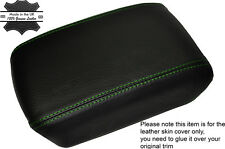 GREEN STITCHING LEATHER ARMREST SKIN COVER FITS NISSAN X-TRAIL T31 2008-2014