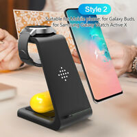 3 in 1 Wireless Qi Charger Fast Charging Dock Station for Samsung S7/S8 ect