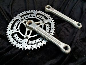 Stronglight TS Bis double chainset Drillium 52-42 French  116 BCD vintage Eroica