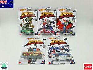 Hot Wheels Marvel SPIDER-MAN Maximum Venom 5 x Car Set Brand New Free Postage