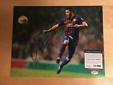 Barcelona Spain David Villa Signed 11x14 Photo with PSA/DNA