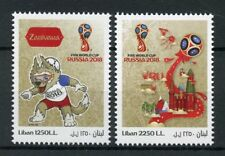 Lebanon 2018 MNH FIFA World Cup Football Russia 2018 2v Set Soccer Sports Stamps