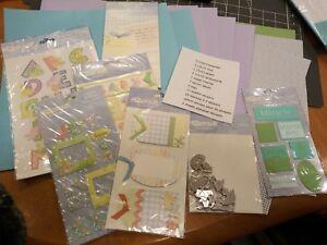 Baby Shower Boy Girl Scrapbook Page Kit Paper die cut sticker tag charm Vellum