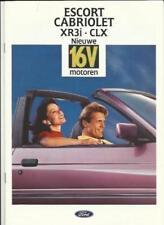 Escort Car Sales Brochures 1992