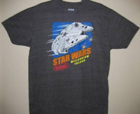 Star Wars Men's Pixelated Millenium Falcon Black Short Sleeve Graphic T-Shirt