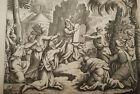 GRAVURE SUR CUIVRE DIEU REDONNE TABLE LOI-BIBLE 1670 LEMAISTRE DE SACY (B41)