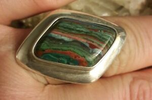 Jay King DTR Sterling Silver Rainbow Calcite Ring Size 7.5