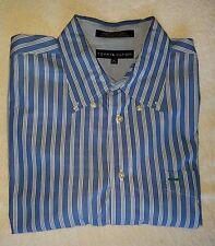 Tommy Hilfiger Cotton Oxford - Blue & White Thick Stripes XL