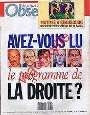 Le nouvel observateur n°1474 du 04/02/1993 Législatives Claude Allègre