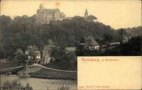 Rochsburg Lunzenau Sachsen Mittelsachsen ~1900 Muldental Brück Burg Festung Tal