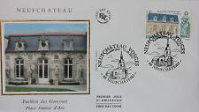 ENVELOPPE PREMIER JOUR - 9 x 16,5 cm - ANNEE 2002 - NEUFCHATEAU GONCOURT