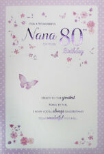 Nana 80th Birthday Card