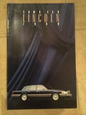LINCOLN TOWN CAR orig 1990 Large Format Sales Brochure - Cartier