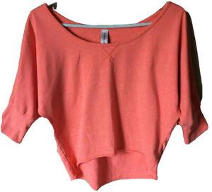 Lorna Jane Life Cotton Blnd Orange Sweatshirt athleisure Pullover Gym Yoga S