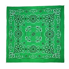 New MTL Extra Large 27 Inch Cotton Texas Paisley Bandana, Green