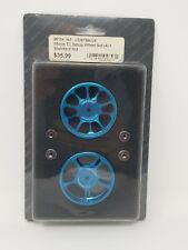 Integy RC Model Hop-ups C22675 Blue  58mm 1/10 Touring Car Setup Wheel Set (4)
