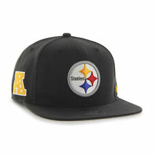 746dee91878 Pittsburgh Steelers  47 Brand Super Shot Black Strapback Hat