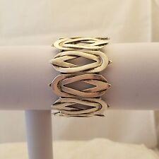 handmade Silver Plated Pewter Stretch Bracelet