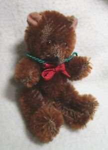 """Vintage Schuco Miniature Mohair Bear - 3.5"""" - Jointed Arms & Legs"""