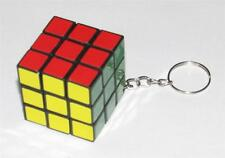 "Decorative PUZZLE CUBE 1 1/8"" x 1 1/8"" x 1 1/8"" KEY CHAIN Ring Keychain NEW"