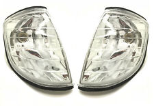 Front Indicators Detector Spare Part Clear Chrome Pair For Mercedes W140 91-98