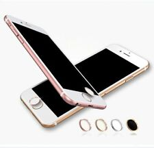 Fingerprint Touch ID Home Button Metal Sticker for iPhone- White w/ Silver Ring
