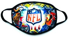 NFL All Teams Logo Print Face Mask  Washable Reusable Mouth Cover Adult Size