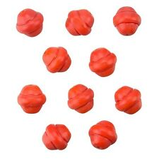 Fancy Saturn Red Round Glass Beads 10mm Pack of 10 (B11/11)