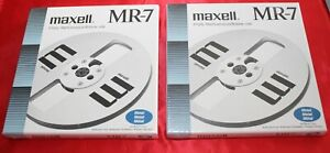 "2 NEW ORIGINAL MAXELL EMPTY REELS MR-7 / TAKE UP REELS IN ALU 7""(= 18 cm); 1/4"""