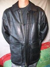 VESTE CREATION NICOTINE T-XL   CUIR/leather jacket vintage COMME NEUVE