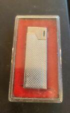 Vintage Maruman Silver Color Butane Torch Lighter DL-18 Japan With Case