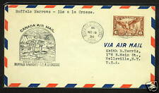 1936 Canada First Flight Cover FFC, Buffalo Narrows to Ile A La Crosse w/ C5*