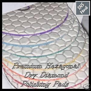 "STADEA 4"" Diamond Polishing Pads Dry Set for Granite Marble Tile Stone Polishing"