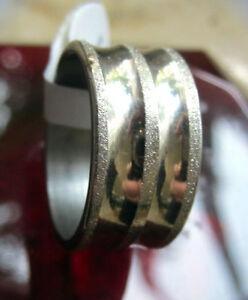 Ring Edelstahl Edelstahlring 3 schmale mattiert Streifen 17,5 mm