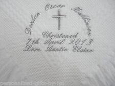 PERSONALISED CHRISTENING - BAPTISM SHAWL / BLANKET
