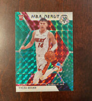 2019-20 Panini Mosaic NBA Debut Green Prizm Tyler Herro #280 Rookie RC