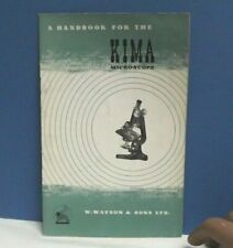 Microscope [ Watson ] KIMA { Hand Book } User Manual