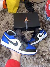 "Nike Air Jordan 1 Low UK 10 "" Sport Royal/Black-White"" EU 45"